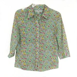 Tommy Hilfiger floral button down shirt size M